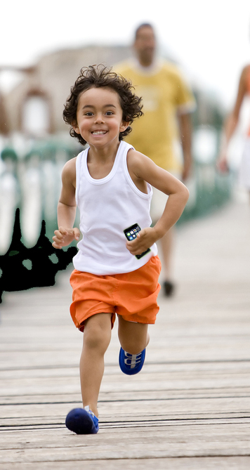 Happy kid running
